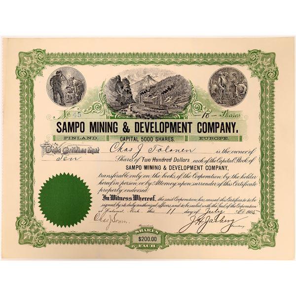 Sampo Mining & Development Stock – Finland and Michigan Connection  [130490]