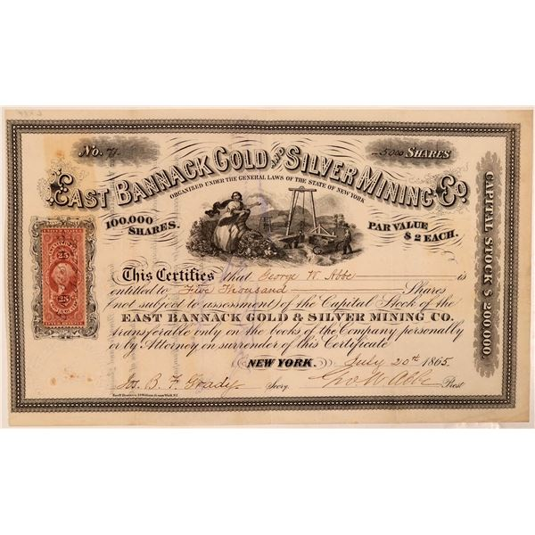 East Bannack Gold & Silver Mining Co. Stock Certificate  [107706]