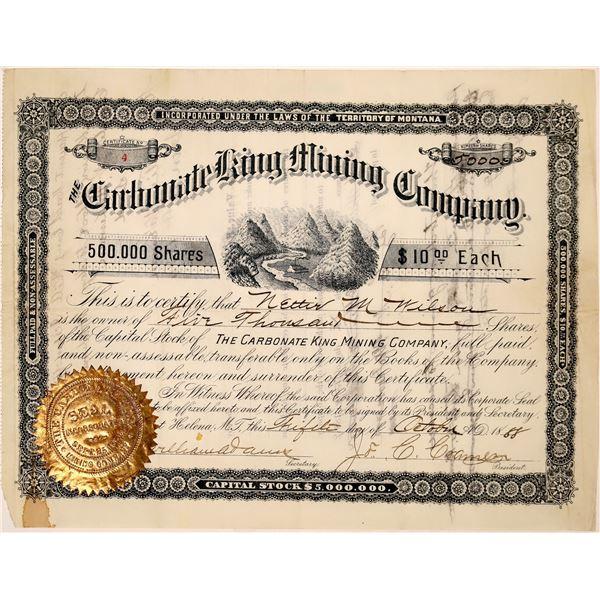 Carbonate King Mine Stock Certificate  [129691]