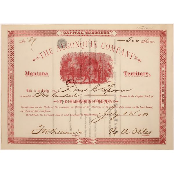 The Algonquin Company Stock Certificate  [128115]