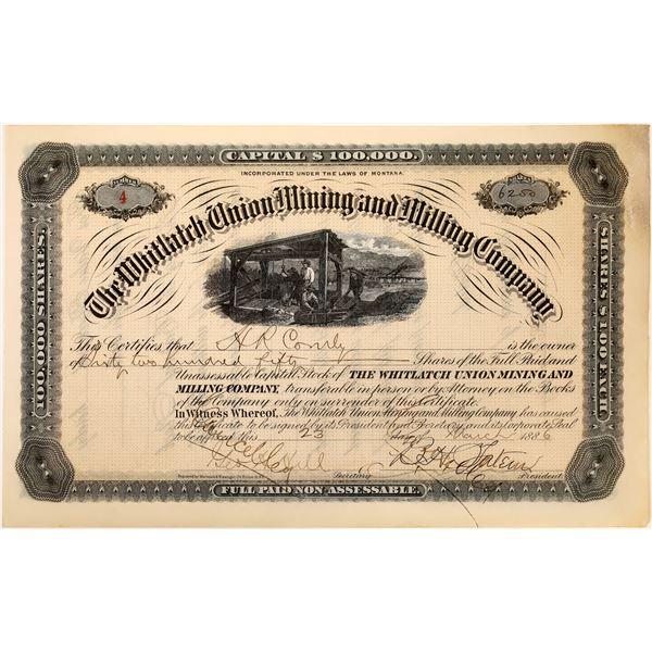 Whitlatch Mine Co. Stock Certificate  [129693]