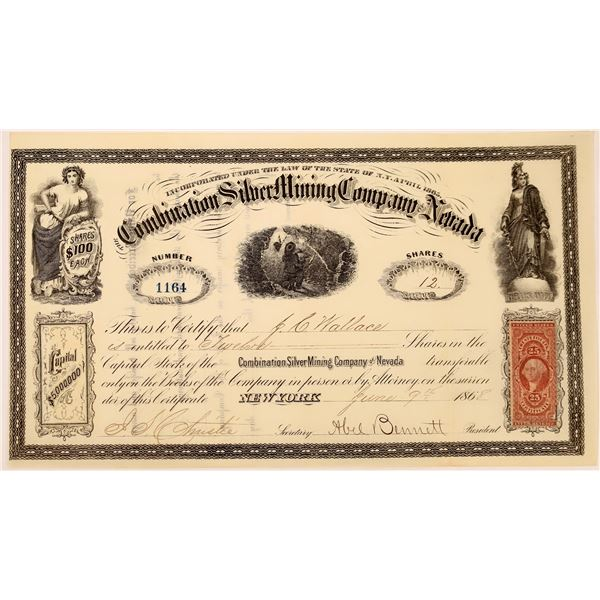 Combination Silver Mine of Nevada Stock Certificate  [129694]