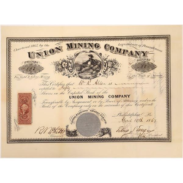 Union Mining Company Stock Certificate  [129705]