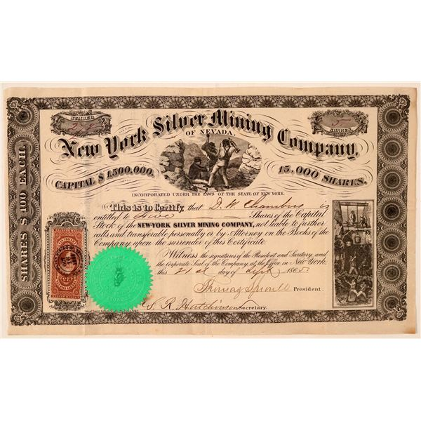 New York Silver Mining Company of Nevada Stock Certificate  [107750]