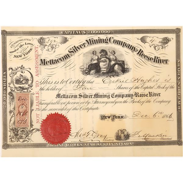 Mettacom Silver Mining Co. Stock Certificate  [129708]