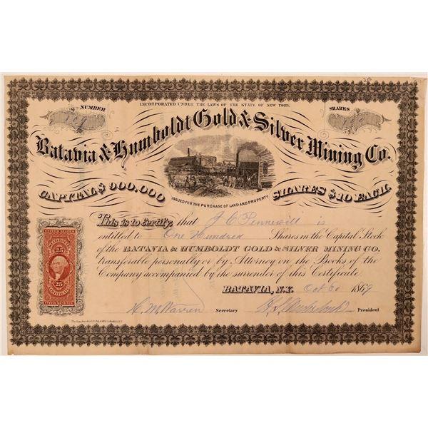 Batavia & Humboldt Gold & Silver Mining Co. Stock Certificate  [107736]