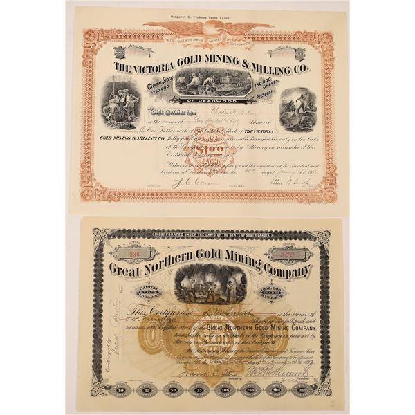 South Dakota Mine Stock Certificates (2)  [129698]