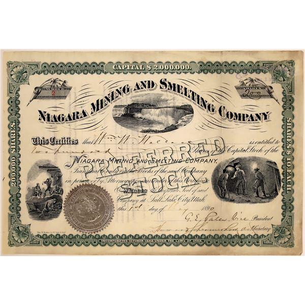 Niagara Mining & Smelting Company Stock, 1890  [130562]