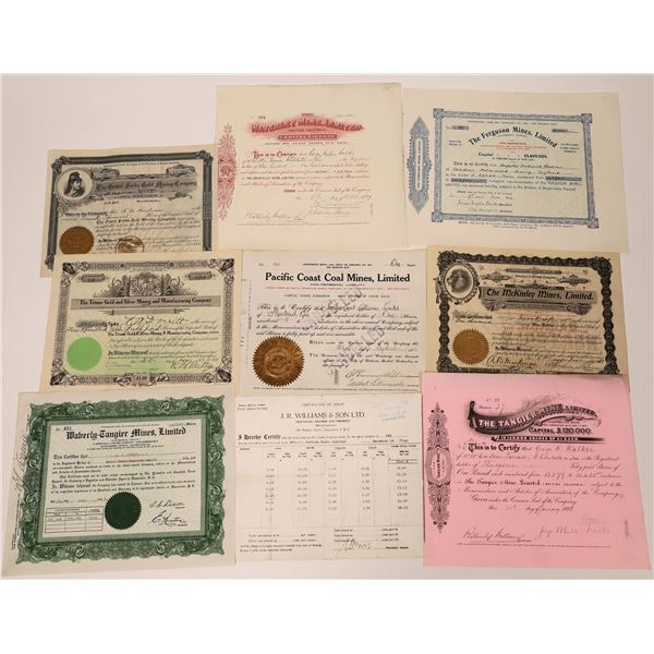 Ferguson, North Forks, Vancouver Island Stock Certificate Collection  [130475]