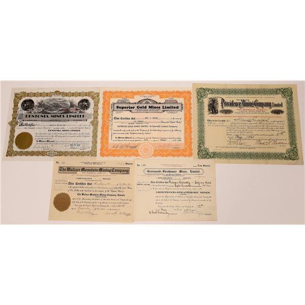 Greenwood, British Columbia Mining Stock Certificate Group  [130478]