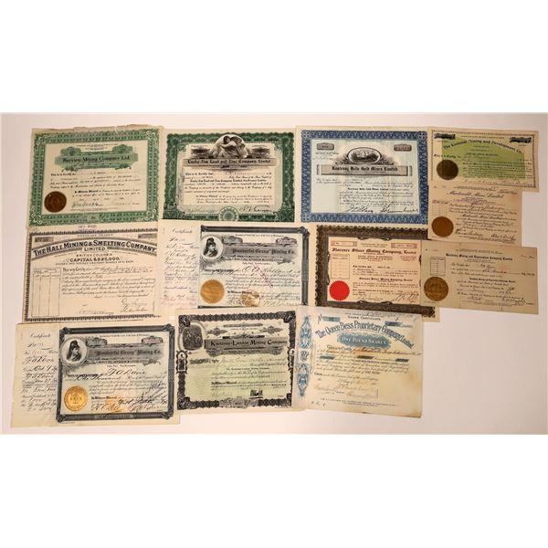 Kootenay Mining Stock Certificate Group  [130479]