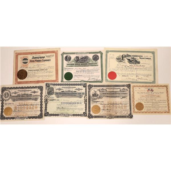 Rossland, British Columbia Mining Stock Certificates – Group 2  [130468]