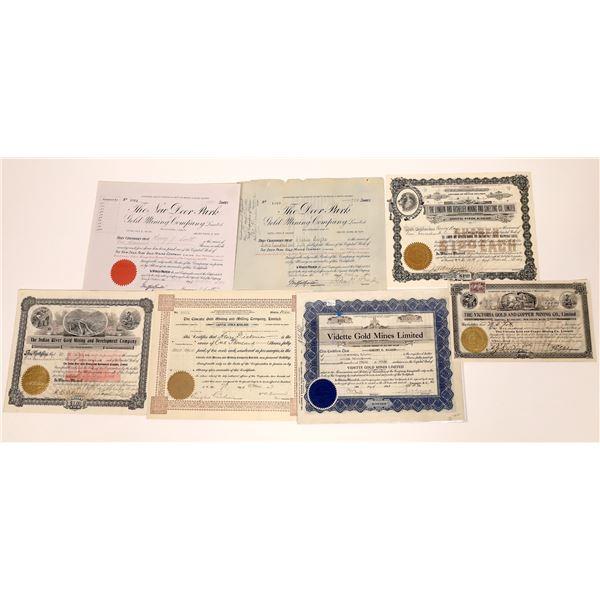 Rossland, British Columbia Mining Stock Certificates – Group 3  [130469]