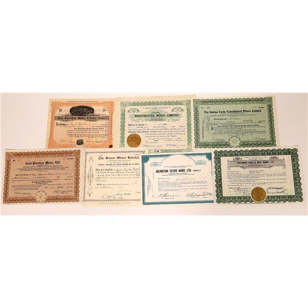 Slocun, British Columbia Mining Stock Certificate Group  [130464]