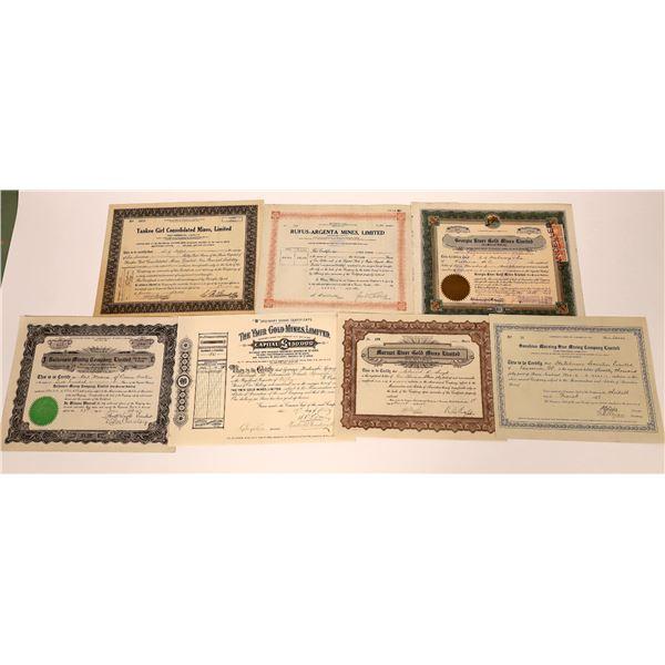 Stewart Region Mining Stock Certificate Group  [130471]