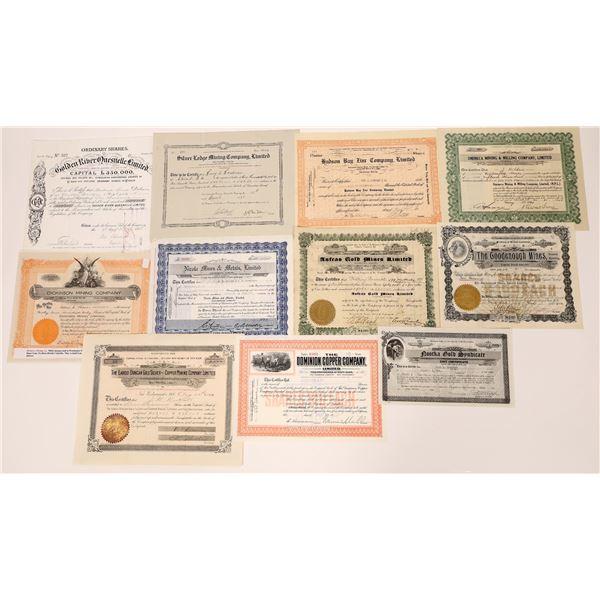 Eleven British Colombia Mining Stock Certificates  [130461]