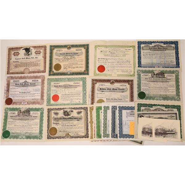 Large Collection of Post-1920 Mining Stock Certificates  [130488]