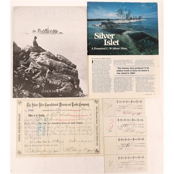 Silver Islet Cons. Mining & Lands Co. Stock --Island Silver Mine!  [130448]