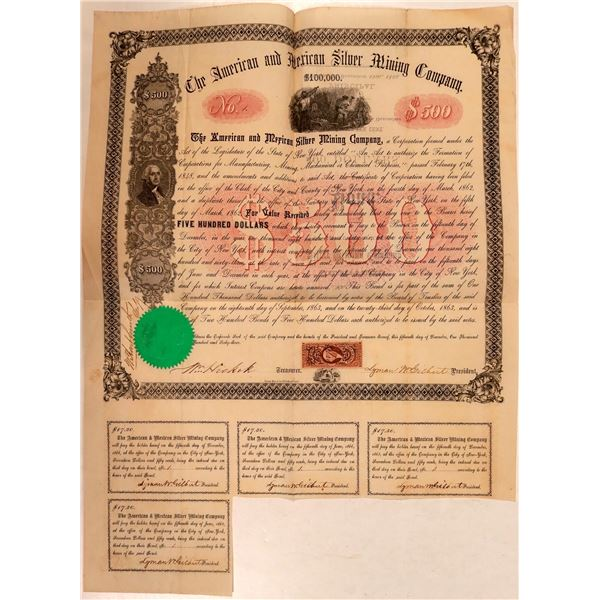 American & Mexican Silver Mining Company Bond--Number 1  [107789]