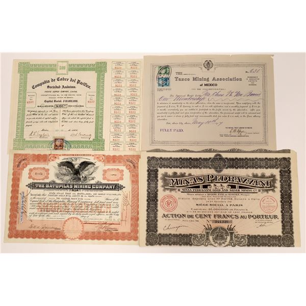 Mexican Mining Stock Certificates - 4  [130459]