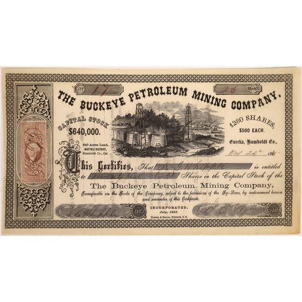 Buckeye Petroleum Mining Co Stock, Eureka, Cal. 1865  [128824]