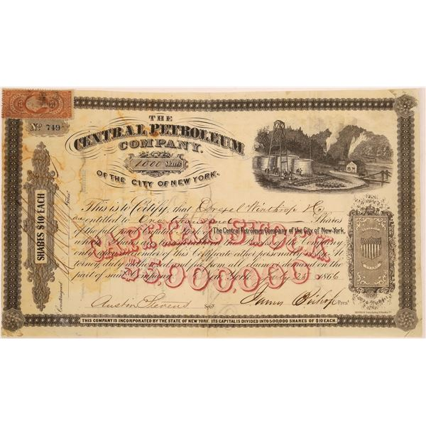 Central Petroleum Company of the City of New York Stock, 1866  [130526]