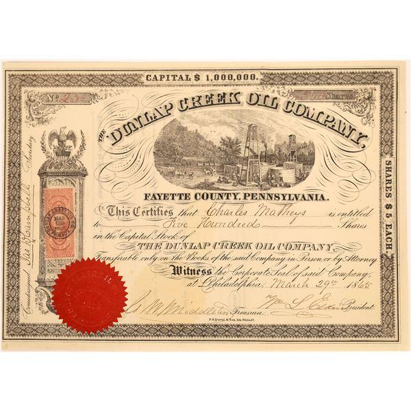 Dunlap Creek Oil Company Stock, 1865  [130524]