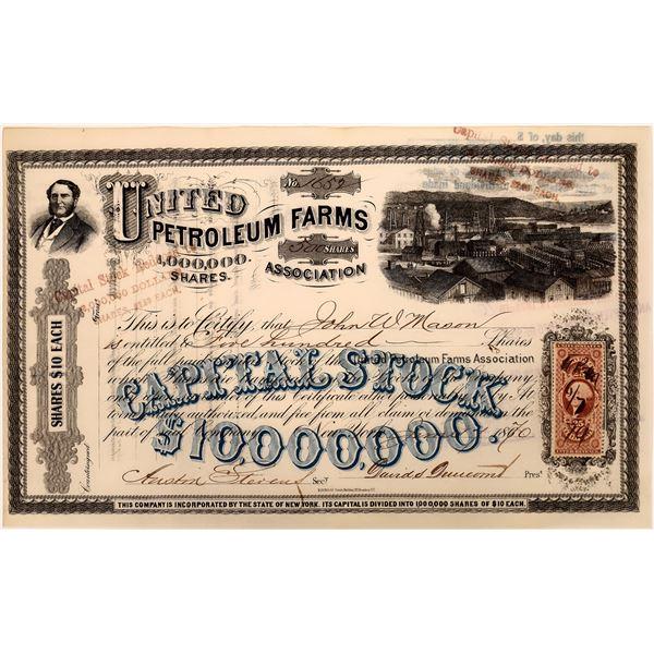 United Petroleum Farms Stock, 1870  [130536]
