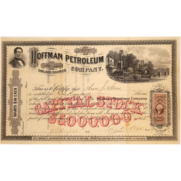 Hoffman Petroleum Company Stock, 1865  [130534]