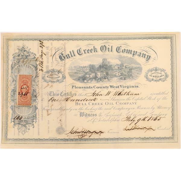 Bull Creek Oil Company Stock, 1865, West Virginia  [130529]