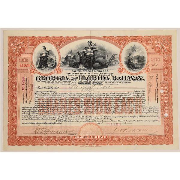 Georgia and Florida Railway Stock, 1912  [130571]