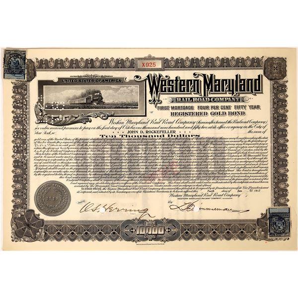 Western Maryland Railroad Company bond issued to John D. Rockefeller  [130239]