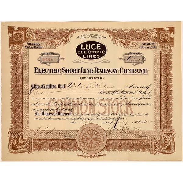 Electric Short Line Railway Company Stock, 1915  [130573]