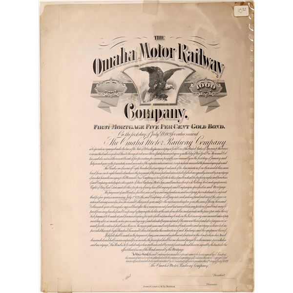 Omaha Motor Railway Bond  [139225]
