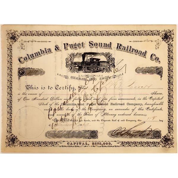 Columbia & Puget Sound Railroad Company stock, 1899  [130574]