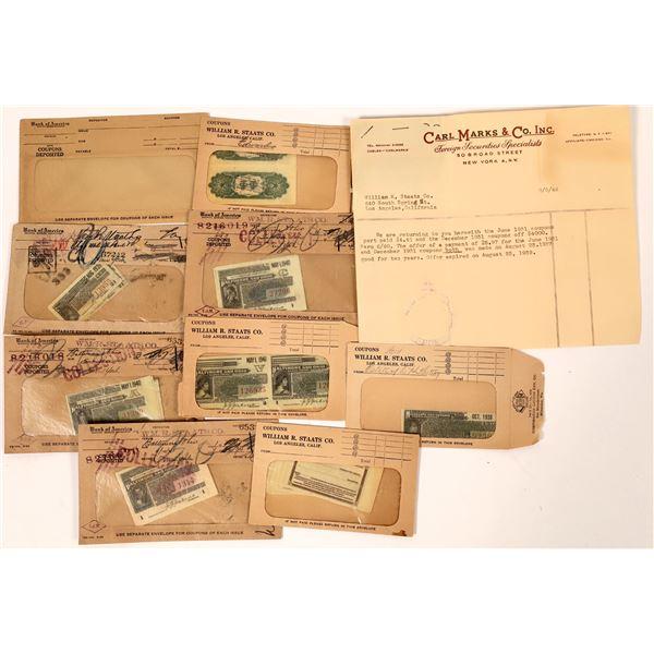 Bank of America Cash/Coupons in Railroad Bonds (25)  [139164]