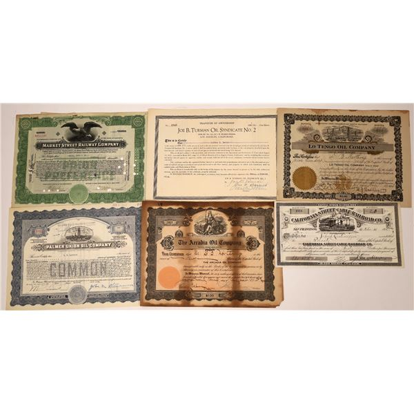 Oil and Street Car Stock Certificates  [138485]