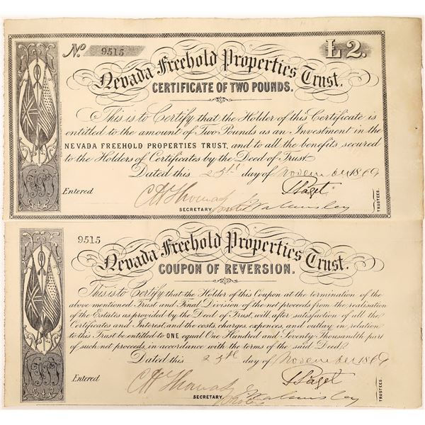 Nevada Freehold Trust Certificate  [129707]