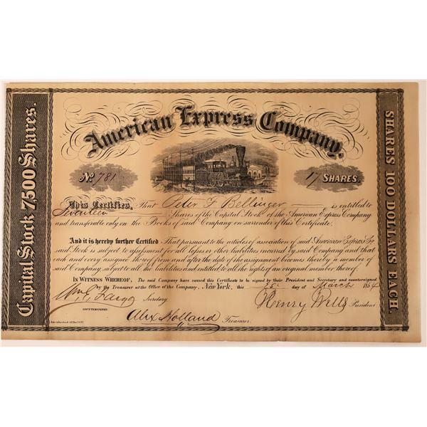 American Express Co. Stock Certificate (Wells, Fargo, Holland Signatures)  [130269]