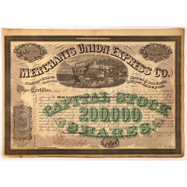 Merchants Union Express with president Ross and Knapp Signatures  [130273]