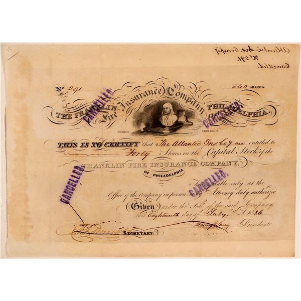 Franklin Fire Insurance Company Stock Certificate  [107770]