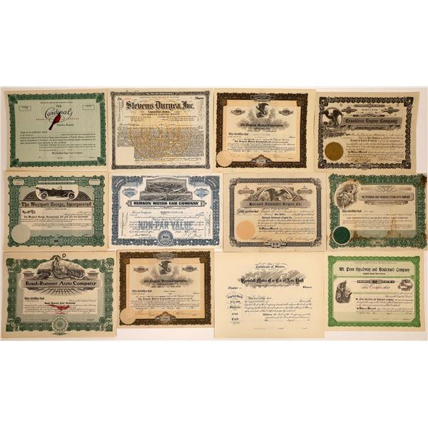 Automobile Stock Certificate Collection – Number 1  [130557]