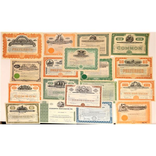 Automobile Stock Certificate Collection – Number 2  [130558]