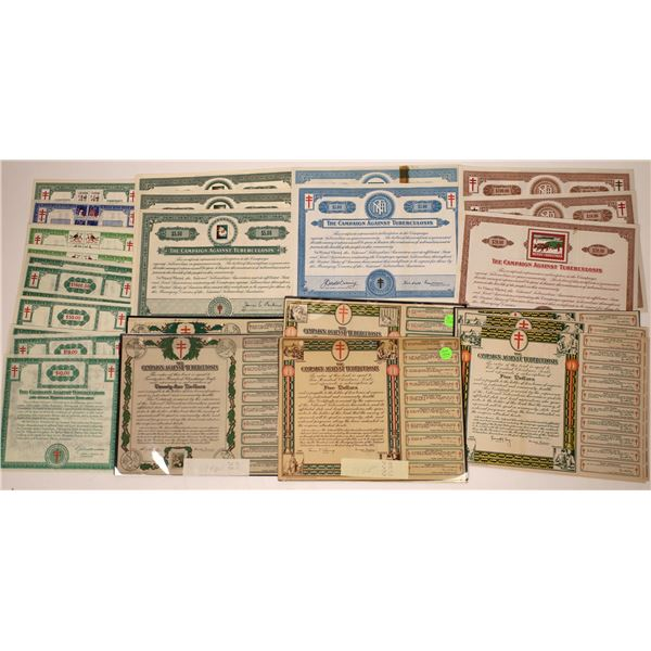 Campaign Against Tuberculosis Stock and Bond Certificates  [138455]