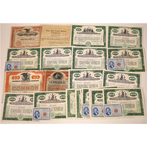 Stock Certificate Collection  [138141]