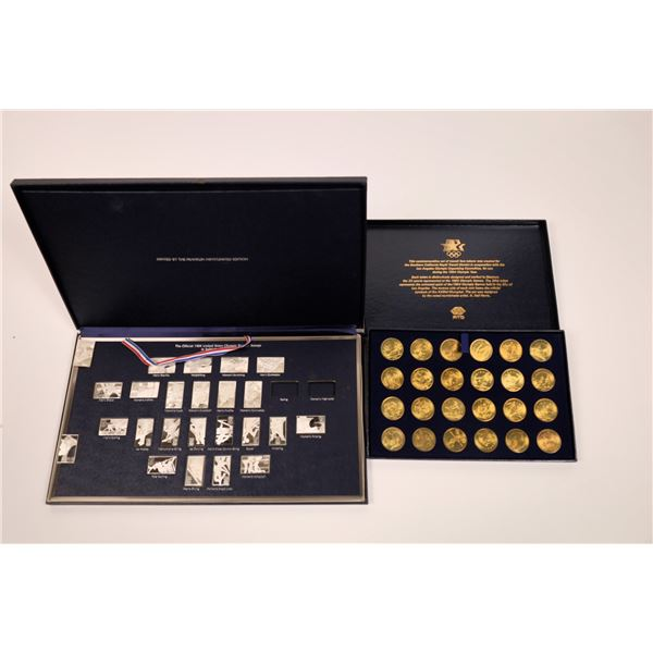 1984 US Olympics Commemorative Silver Ingot Group  [141171]