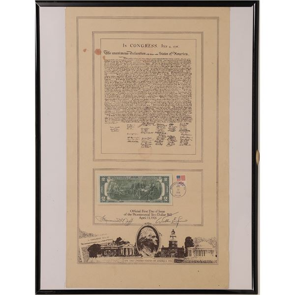 First Day Issue of the Bicentennial Two Dollar Bill  [140028]