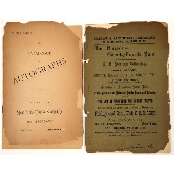 Messrs Bang & Company Vintage Auction Catalog/Autographs Catalog  [139180]