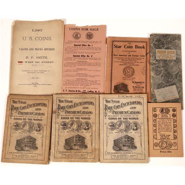 Historic Coin Catalogs (8)  [139232]