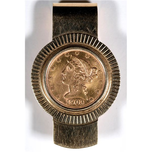 Liberty Head $5 U.S. Gold Piece Money Clip  [136184]